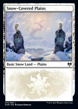 《冠雪の平地/Snow-Covered Plains》[KHM] 土地(276)