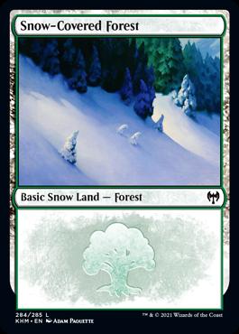 《冠雪の森/Snow-Covered Forest》[KHM] 土地(284)