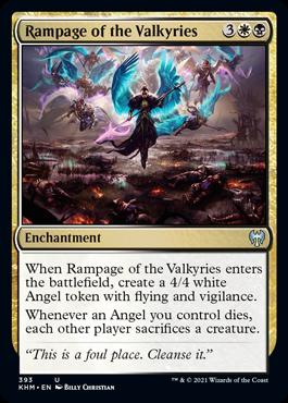 《戦乙女の猛威/Rampage of the Valkyries》[KHM-BF] 金U