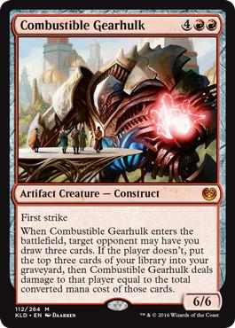 《焼却の機械巨人/Combustible Gearhulk》[KLD] 赤R