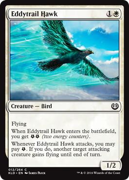 《渦跡の鷹/Eddytrail Hawk》[KLD]白C