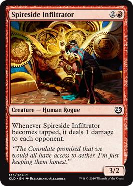 《尖塔横の潜入者/Spireside Infiltrator》[KLD]赤C