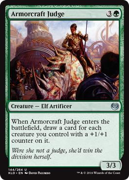 《鎧作りの審判者/Armorcraft Judge》[KLD]緑U
