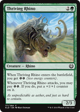 《亢進するサイ/Thriving Rhino》[KLD]緑C