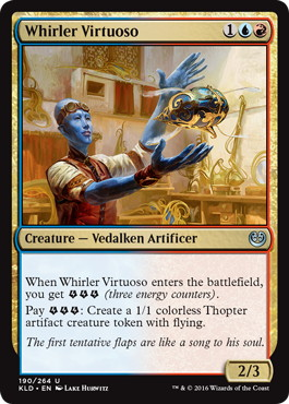 《つむじ風の巨匠/Whirler Virtuoso》[KLD]金U