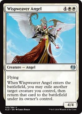 《たなびき織りの天使/Wispweaver Angel》[KLD]白U