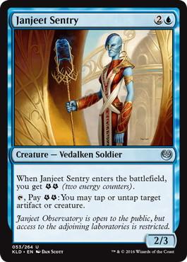 《ジャンジーの歩哨/Janjeet Sentry》[KLD]青U