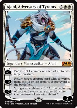 《暴君への敵対者、アジャニ/Ajani, Adversary of Tyrants》[M19] 白R