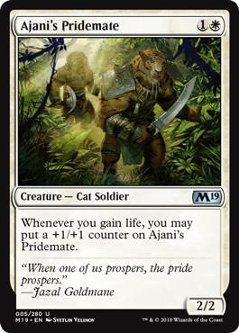 【Foil】《アジャニの群れ仲間/Ajani's Pridemate》[M19] 白U