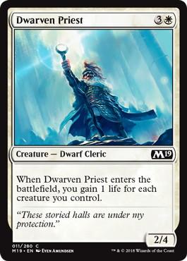 《ドワーフの僧侶/Dwarven Priest》[M19] 白C