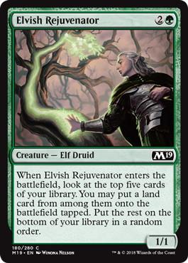 《エルフの再生者/Elvish Rejuvenator》[M19] 緑C