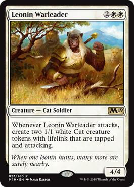 《レオニンの戦導者/Leonin Warleader》[M19] 白R