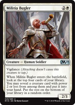 《民兵のラッパ手/Militia Bugler》[M19] 白U