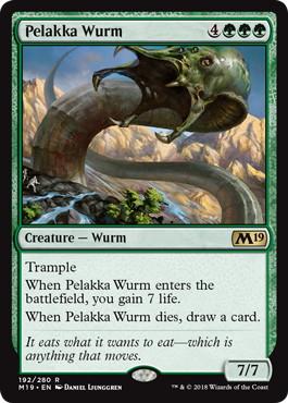 《ペラッカのワーム/Pelakka Wurm》[M19] 緑R