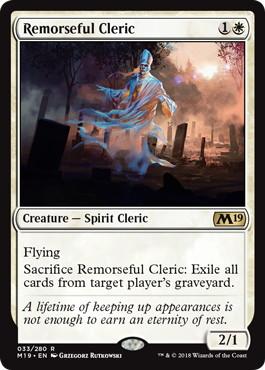 《悔恨する僧侶/Remorseful Cleric》[M19] 白R