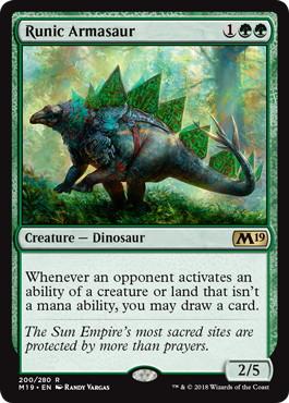 《秘紋のアルマサウルス/Runic Armasaur》[M19] 緑R