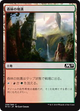 《森林の地溝/Timber Gorge》[M19] 土地C