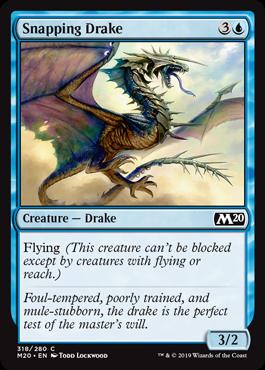 《噛みつきドレイク/Snapping Drake》[M20-PW] 青C