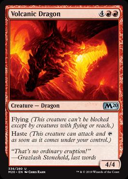 《火山のドラゴン/Volcanic Dragon》[M20-PW] 赤U