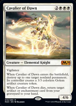 《暁の騎兵/Cavalier of Dawn》[M20] 白R