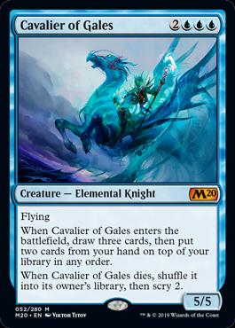 《風の騎兵/Cavalier of Gales》[M20] 青R