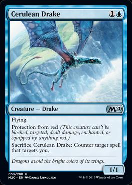 《紺碧のドレイク/Cerulean Drake》[M20]青U