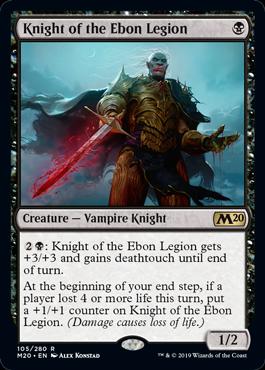 【Foil】《漆黒軍の騎士/Knight of the Ebon Legion》[M20] 黒R