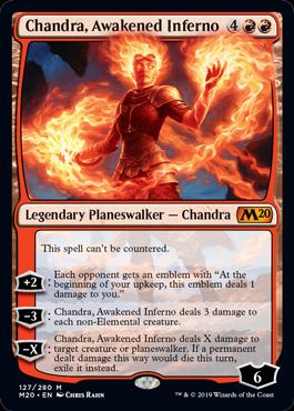 《目覚めた猛火、チャンドラ/Chandra, Awakened Inferno》[M20] 赤R