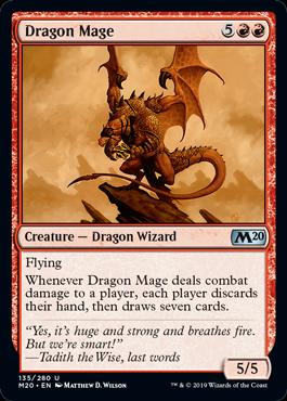 《ドラゴン魔道士/Dragon Mage》[M20] 赤U