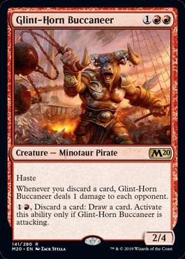 《光り角の海賊/Glint-Horn Buccaneer》[M20] 赤R