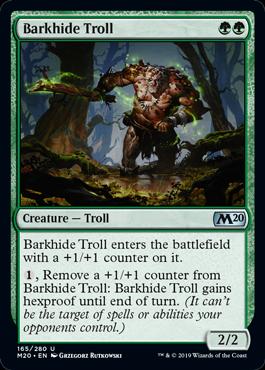 《樹皮革のトロール/Barkhide Troll》[M20] 緑U