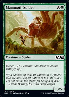 《マンモスグモ/Mammoth Spider》[M20] 緑C