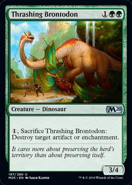 《打ち壊すブロントドン/Thrashing Brontodon》[M20] 緑U