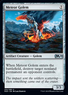 《隕石ゴーレム/Meteor Golem》[M20]茶U