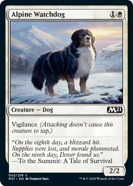 《高山の番犬/Alpine Watchdog》[M21] 白C