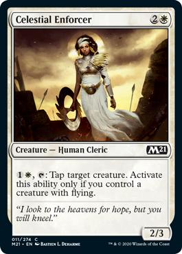 《天界の処罰者/Celestial Enforcer》[M21] 白C