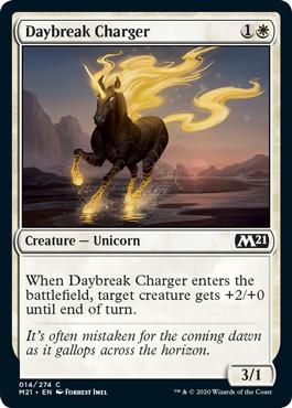 《夜明けの突撃獣/Daybreak Charger》[M21] 白C