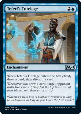 《テフェリーの後見/Teferi's Tutelage》[M21] 青U