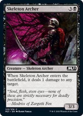 《骸骨射手/Skeleton Archer》[M21] 黒C