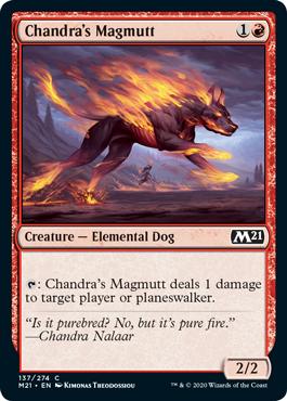 《チャンドラのマグムット/Chandra's Magmutt》[M21] 赤C