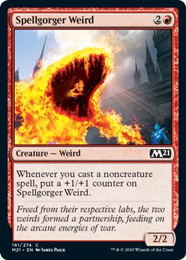 《呪文喰いの奇魔/Spellgorger Weird》[M21] 赤C
