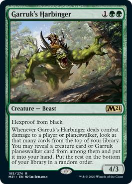 《ガラクの先触れ/Garruk's Harbinger》[M21] 緑R