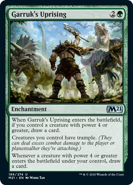 《ガラクの蜂起/Garruk's Uprising》[M21] 緑U