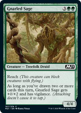 《節くれの賢者/Gnarled Sage》[M21] 緑C