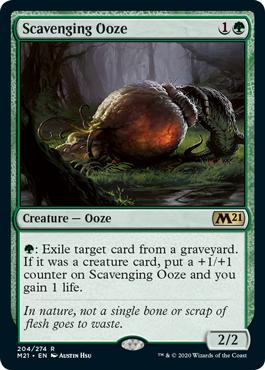 《漁る軟泥/Scavenging Ooze》[M21] 緑R