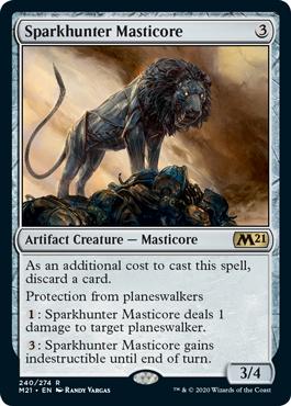 《灯狩人のマスティコア/Sparkhunter Masticore》[M21] 茶R