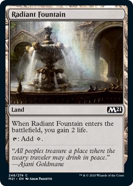 《光輝の泉/Radiant Fountain》[M21] 土地C
