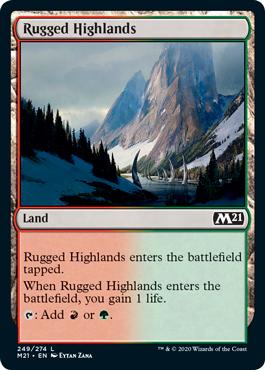 《岩だらけの高地/Rugged Highlands》[M21] 土地C