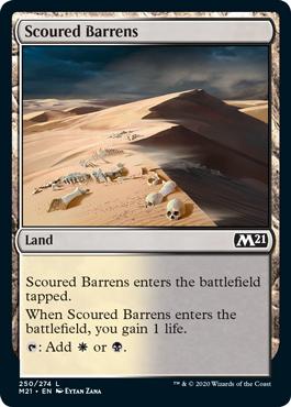 《磨かれたやせ地/Scoured Barrens》[M21] 土地C