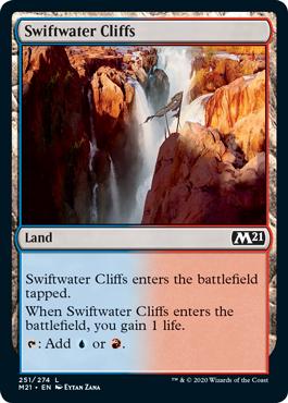 《急流の崖/Swiftwater Cliffs》[M21] 土地C